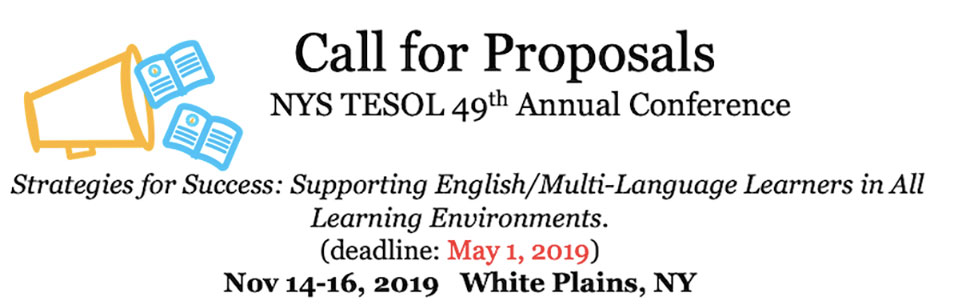 NYS-TESOL call for Proposal 2019